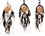 Double Dreamcatcher 6cm vit.